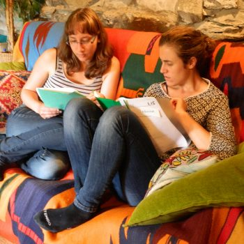 Informal english language pair study at Nab Cottage